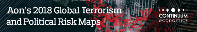 Aon's 2018 Global Terrorism and Politcal Risk Maps